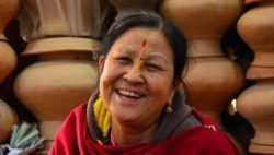 Image: A smiling Indian woman